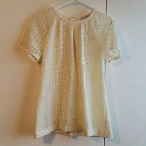 Banana republic lace shirt